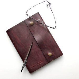 Rustico Brown Leather Journal with Snap Closure